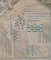 Davis-Monthan Air Force Base Aircraft Boneyard Tucson Arizona USA The largest aircraft storage and preservation facility in the world The boneyardrun by the th Airspace Maintenance and Regeneration Groupcontains more than  retired American military and go