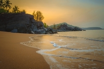 Dawn at a secluded beach in Gokarna India