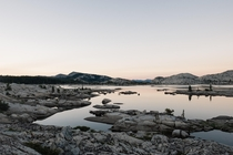 Dawn at Lake Aloha in Desolation Wilderness CA