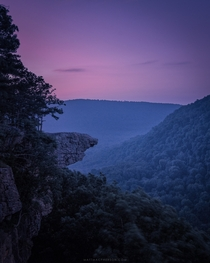 Dawn at Whitaker Point in the Ozarks