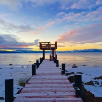 Dawn from dock in North Lake Tahoe
