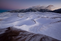 Dawn Great Sand Dunes backcountry - Colorado USA