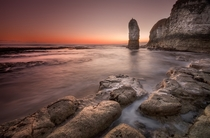 Dawn on the rocks at Flamborough England by Dave Holder