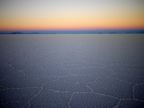 Dawn on the Salt Flats near Uyuni Bolivia