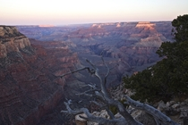 Dawn on the trail to Yaki Point at the Grand Canyon