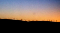 Dawning on Wind Turbines in Central CA USA