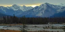 Daybreak in Kootenay National Park  British Columbia