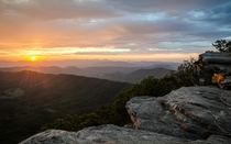 Daybreak on the Appalachian Trail - view from McAfee Knob Catawba VA