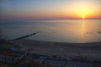 Daybreak Over Lake Michigan Milwaukee WI