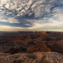 Dead Horse Point state park in Utah provide sublime views of the Colorado river especially during sunrise