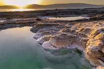 Dead Sea Israel - Salt Sink Holes x