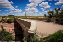 Dead Wash Bridge and Painted Desert Trading Post abandoned stretch of Route  in Arizona