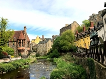Dean Village Edinburgh Scotland - pic taken June  A little medieval fairytale village hiding in the city