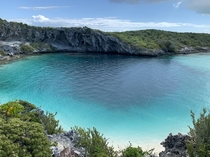 Deans Blue Hole Long Island Bahamas