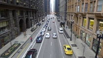 Dearborn Ave from above in Chicago IL