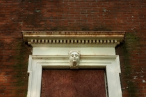Death Mask of Eliza Clemens Embedded in an Abandoned Mansion St Louis MO   opacityus