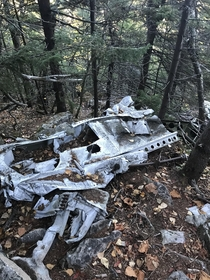 Debris from a plane crash near the summit of Belknap Mountain Gilford NH