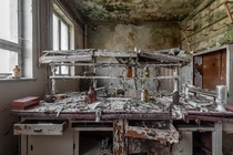 Decayed laboratory of a chemical plant