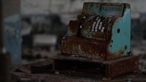 Decaying cash register in Pripyat School  Chernobyl Exclusion Zone