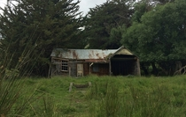 Decaying house near Little River Banks Peninsula New Zealand  OC