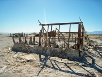 Decaying houses at Bombay Beach Salton Sea