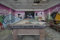 Decaying Pool Table Inside an Abandoned Orphanage