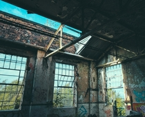 Decaying room in an abandoned power station