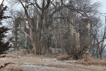 Decaying stone farmhouse near Ashland NE