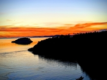 Deception Pass WA When Google photos decide to convert sunset photo to a sunrise photo