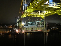 Deck replacement of the Angus L Macdonald Bridge