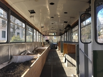 Decommissioned bus repurposed as an urban gardening project now lays abandoned in Bern Switzerland