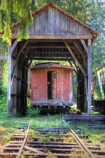 Decommissioned sad caboose at McLean Steam Sawmill Port Alberni BC Photo by Lotus Johnson