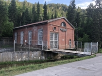 Defunct hydroelectric plant along a river in the Black Hills South Dakota