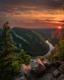 Delaware River from Mount Tammany New Jersey