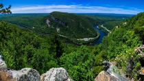 Delaware Water Gap as shot from New Jersey