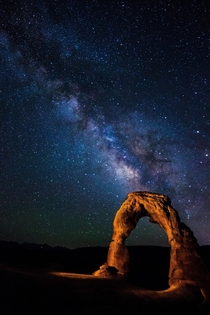 Delicate Arch and The Milky Way Arches National Park