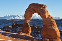 Delicate Arch at Arches National Park last winter