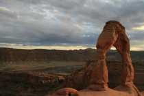 Delicate Arch at sundown Moab Utah