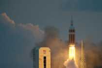 Delta  rocket carrying NASAs first Orion deep space exploration craft