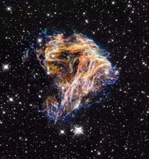 DEM L  remnants of a star after a supernova