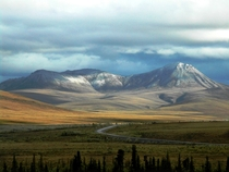 Dempster Highway crossing the Richardson Mountains Yukon Canada  by Pierre Racine