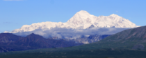 Denali briefly known as Mt McKinley Only  of visitors ever get to see it because it gathers clouds around itself Lucky us