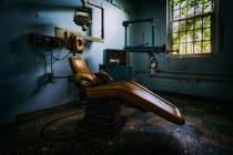 Dentist chair in abandoned psych ward