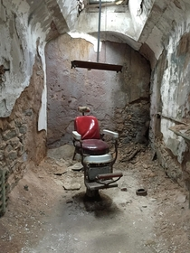 Dentists chair at Eastern State Penitentiary