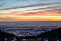 Denver at Dawn from Lookout Mtn by ufergie