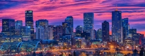 Denver CO at sunrise