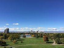 Denver CO from top of Museum of Nature and Science