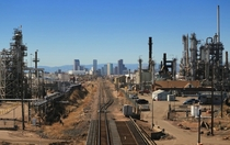Denver Colorado as viewed from Commerce City x-post from rCityPorn