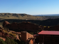 Denver Colorado from Red Rocks Amphitheater