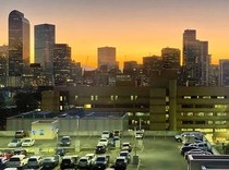Denver Colorado My home Been stuck in a hospital for over a week in icu because a virus I got causing heart failure Today I got transferred to a regular floor with this view for the evening It may not be Manhattan or Chicago but its sure is something else